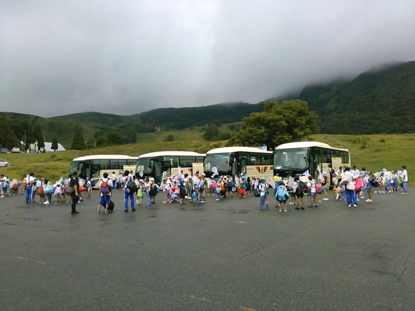 キャンプ一日目・ハチ高原到着