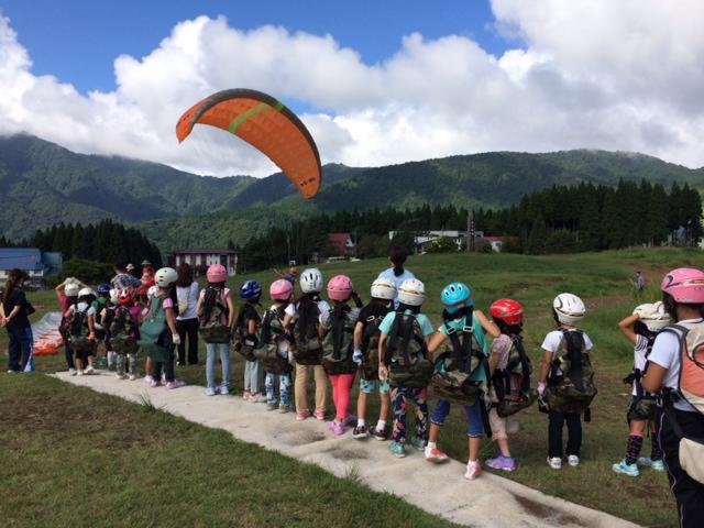 キャンプ二日目・パラグライダー4