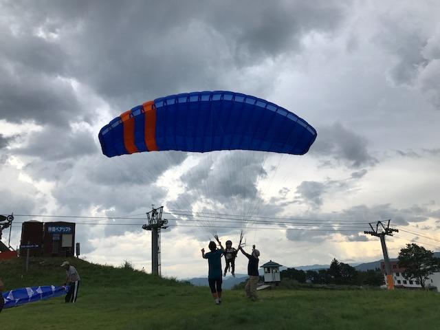 サマーキャンプ1日目・パラグライダー2