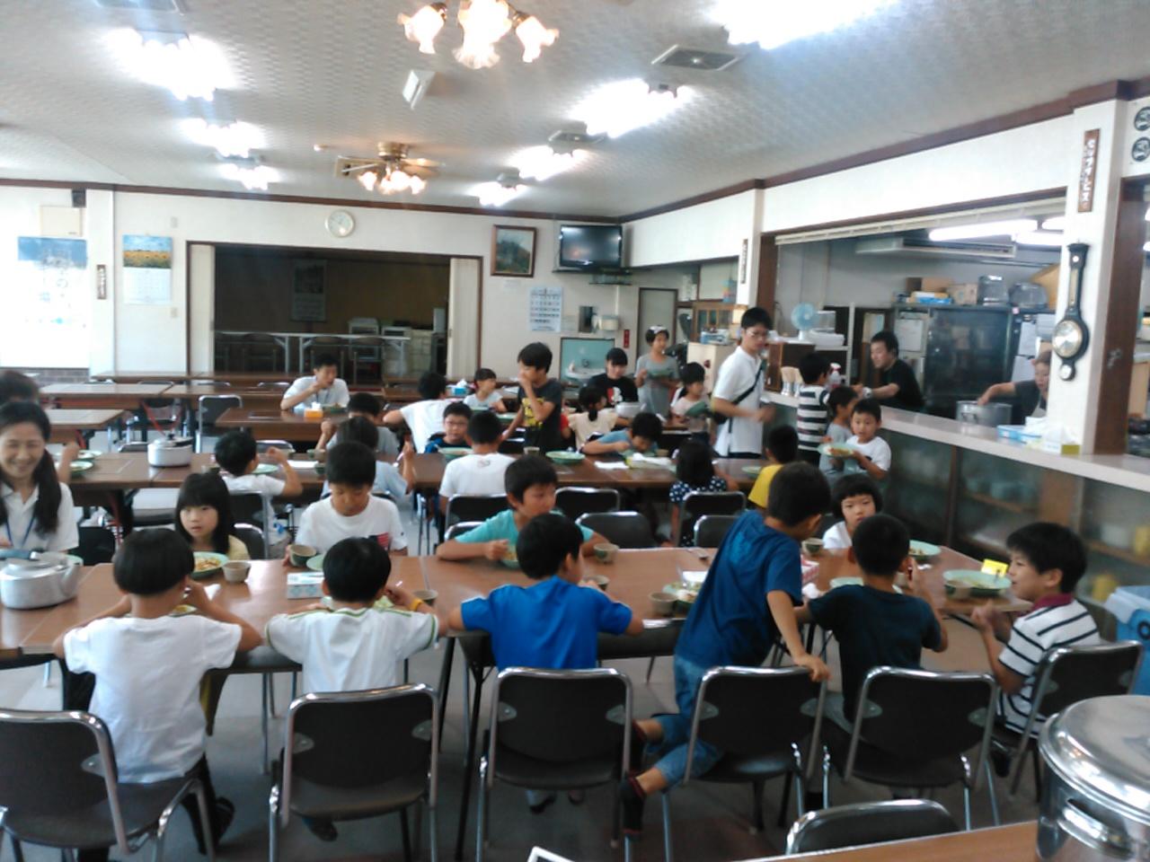 サマーキャンプ1日目・昼食1
