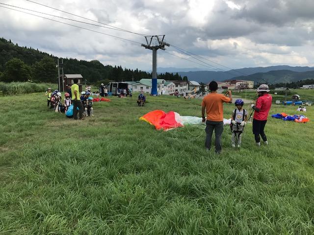 サマーキャンプ2日目午後・パラグライダー3