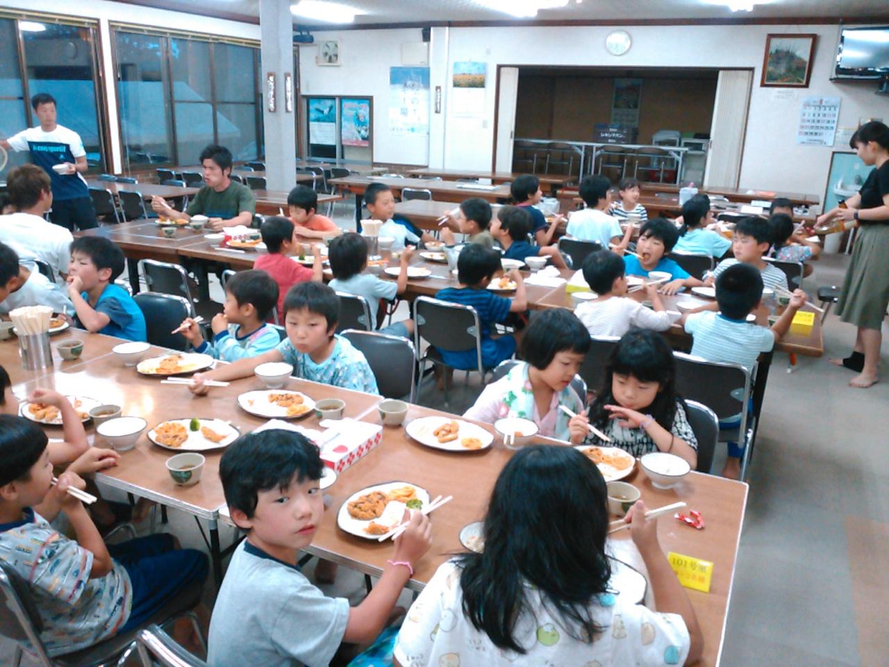 サマーキャンプ2日目・夕食2