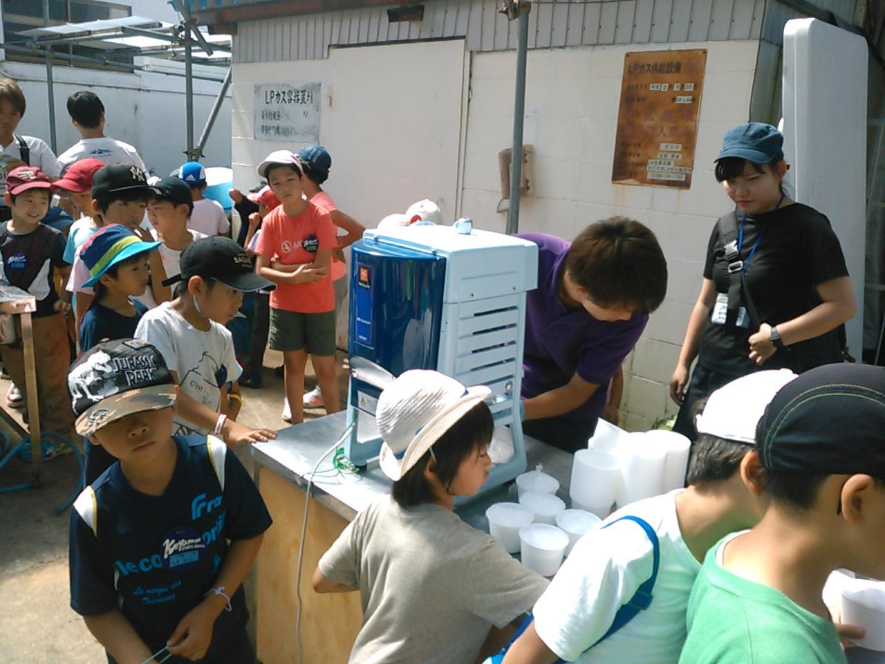 サマーキャンプ3日目・かき氷1