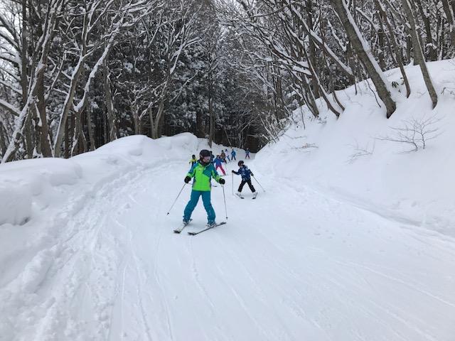 スキーキャンプ1日目・レッスン14