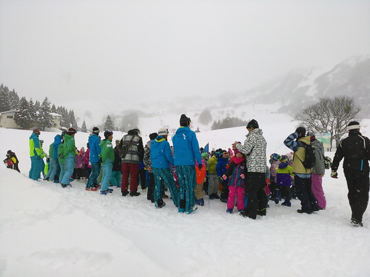 スキーキャンプ1日目・レッスン1