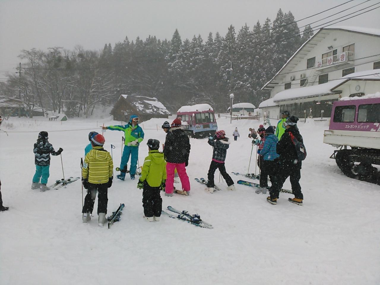 スキーキャンプ1日目・レッスン2