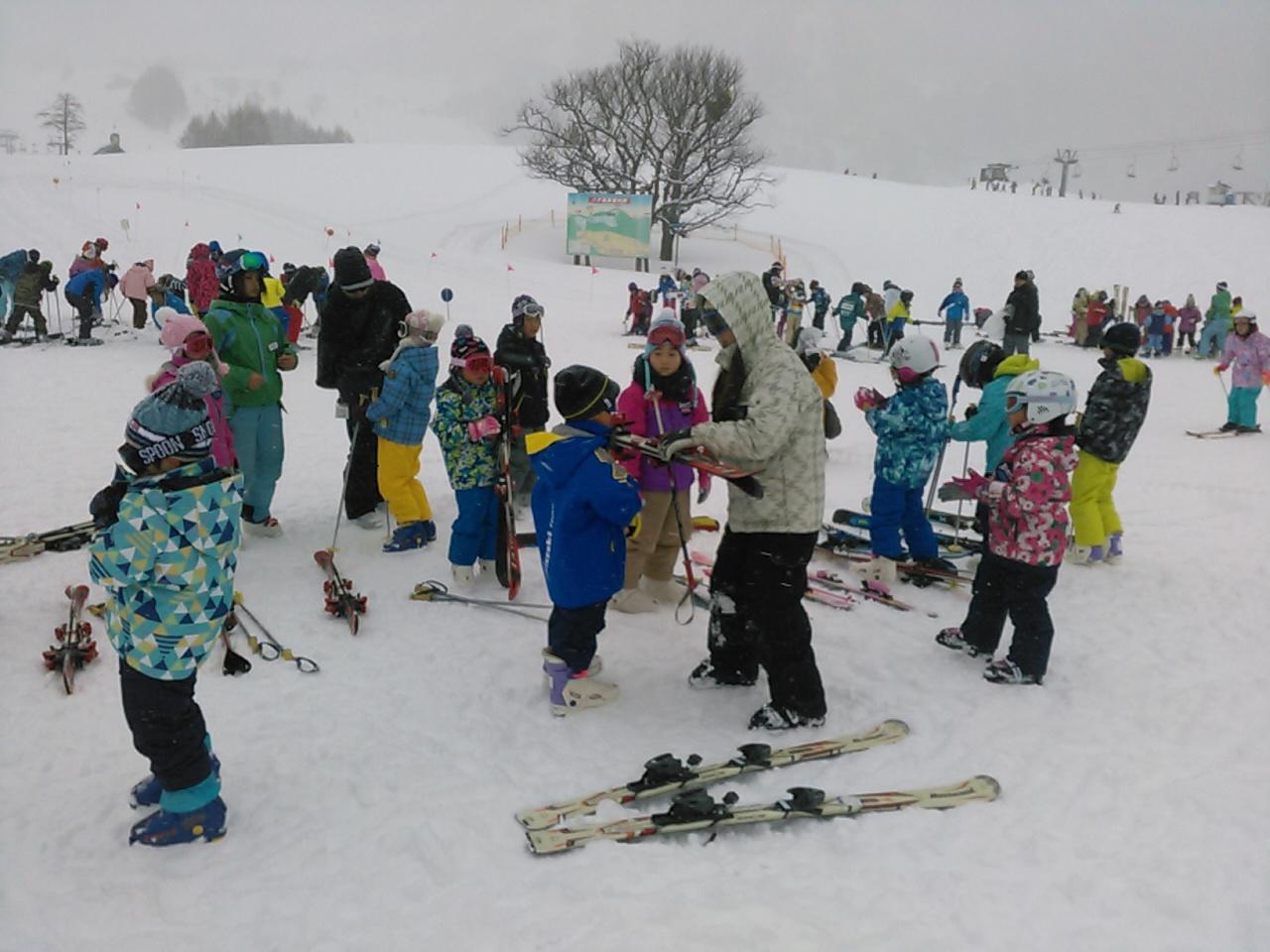スキーキャンプ1日目・レッスン3