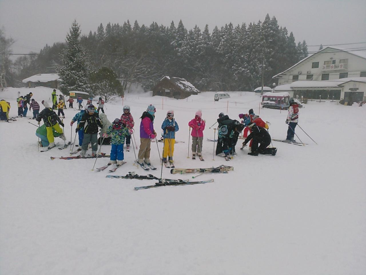スキーキャンプ1日目・レッスン4