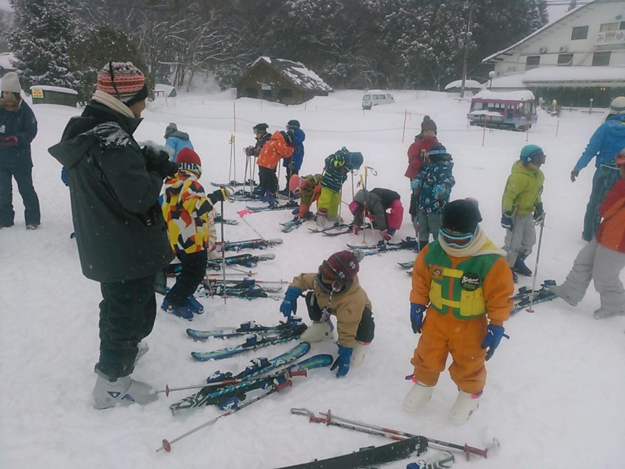 スキーキャンプ1日目・レッスン6