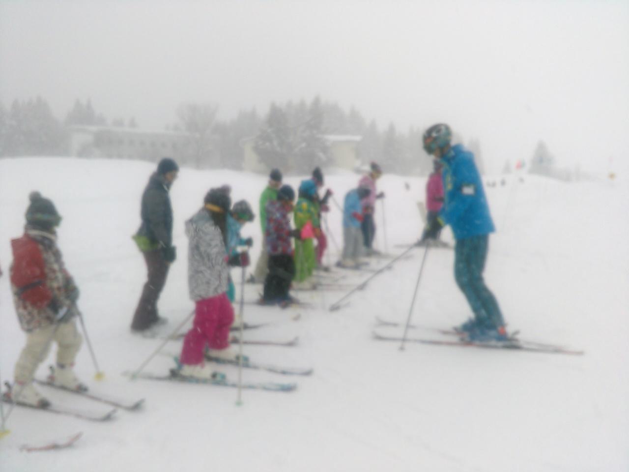 スキーキャンプ1日目・レッスン8