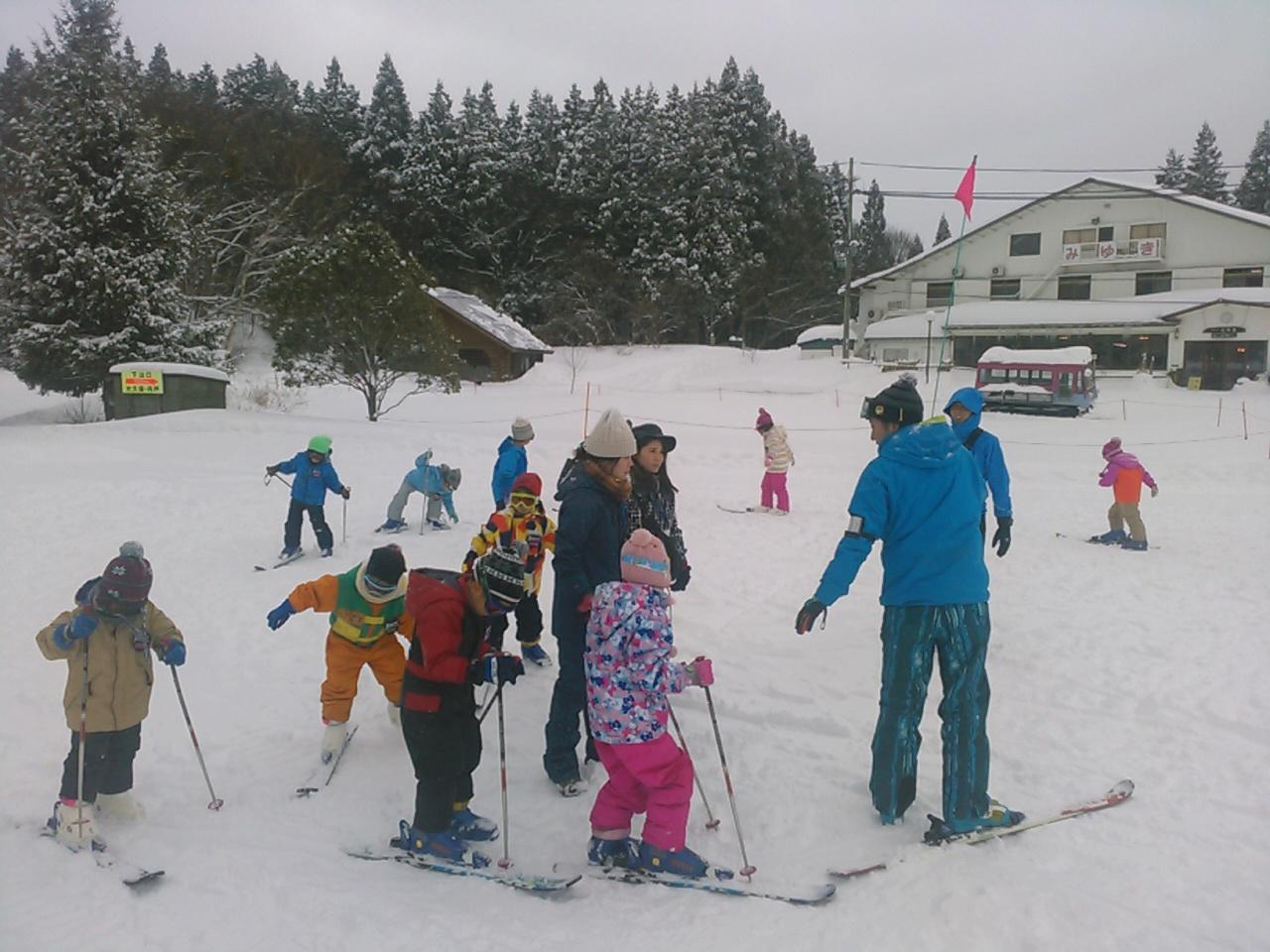 スキーキャンプ1日目・レッスン10