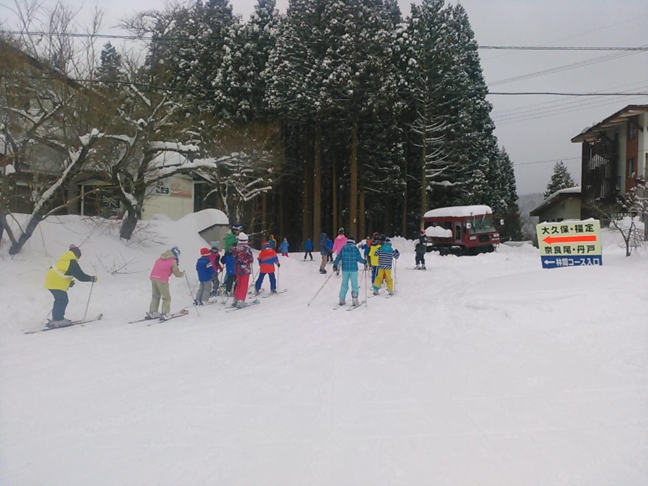 スキーキャンプ1日目・レッスン11