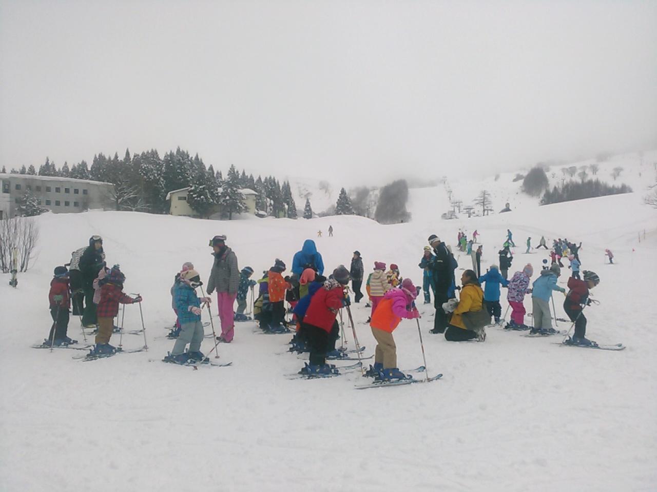 スキーキャンプ1日目・レッスン12