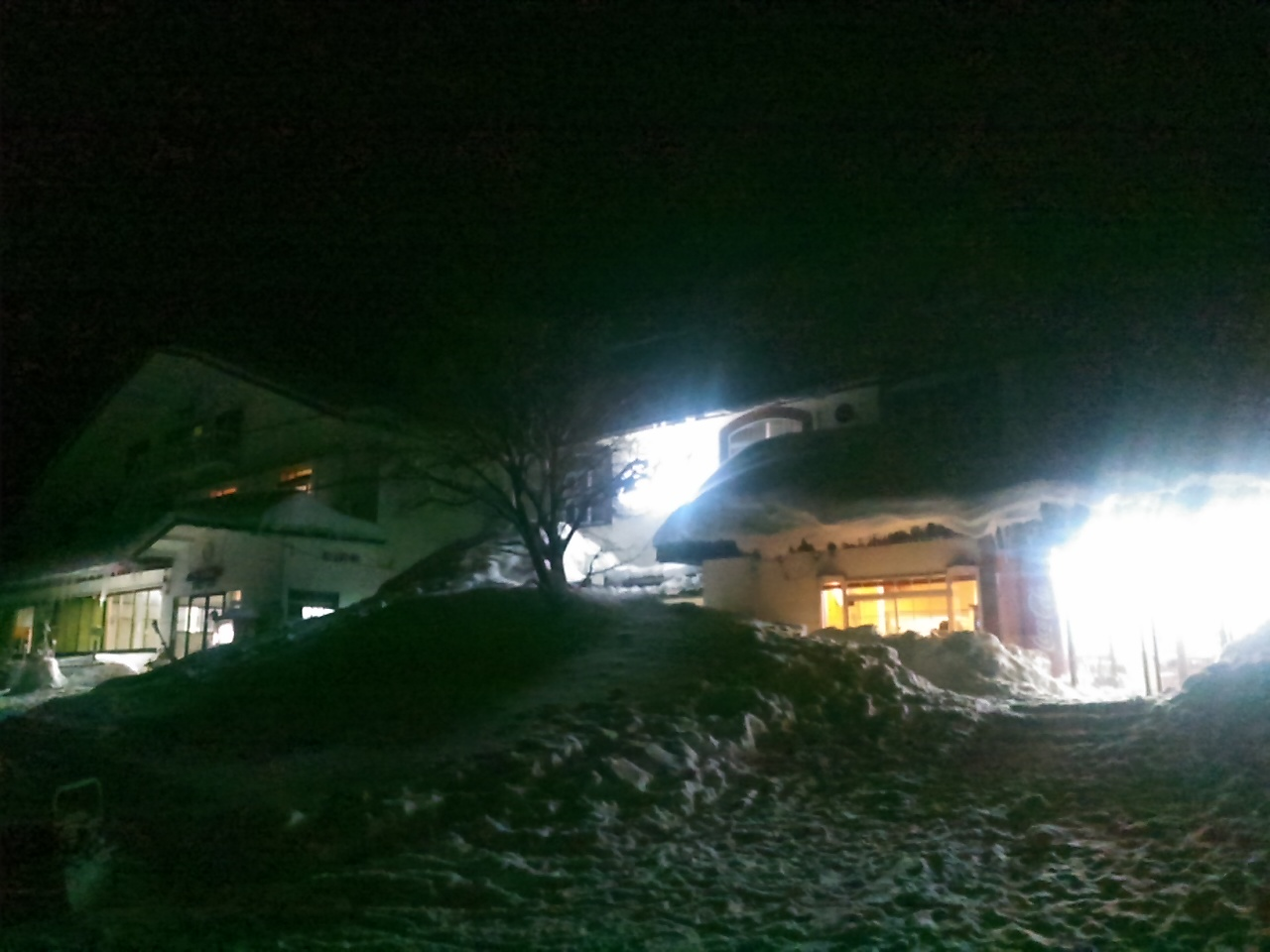 スキーキャンプ1日目・消灯