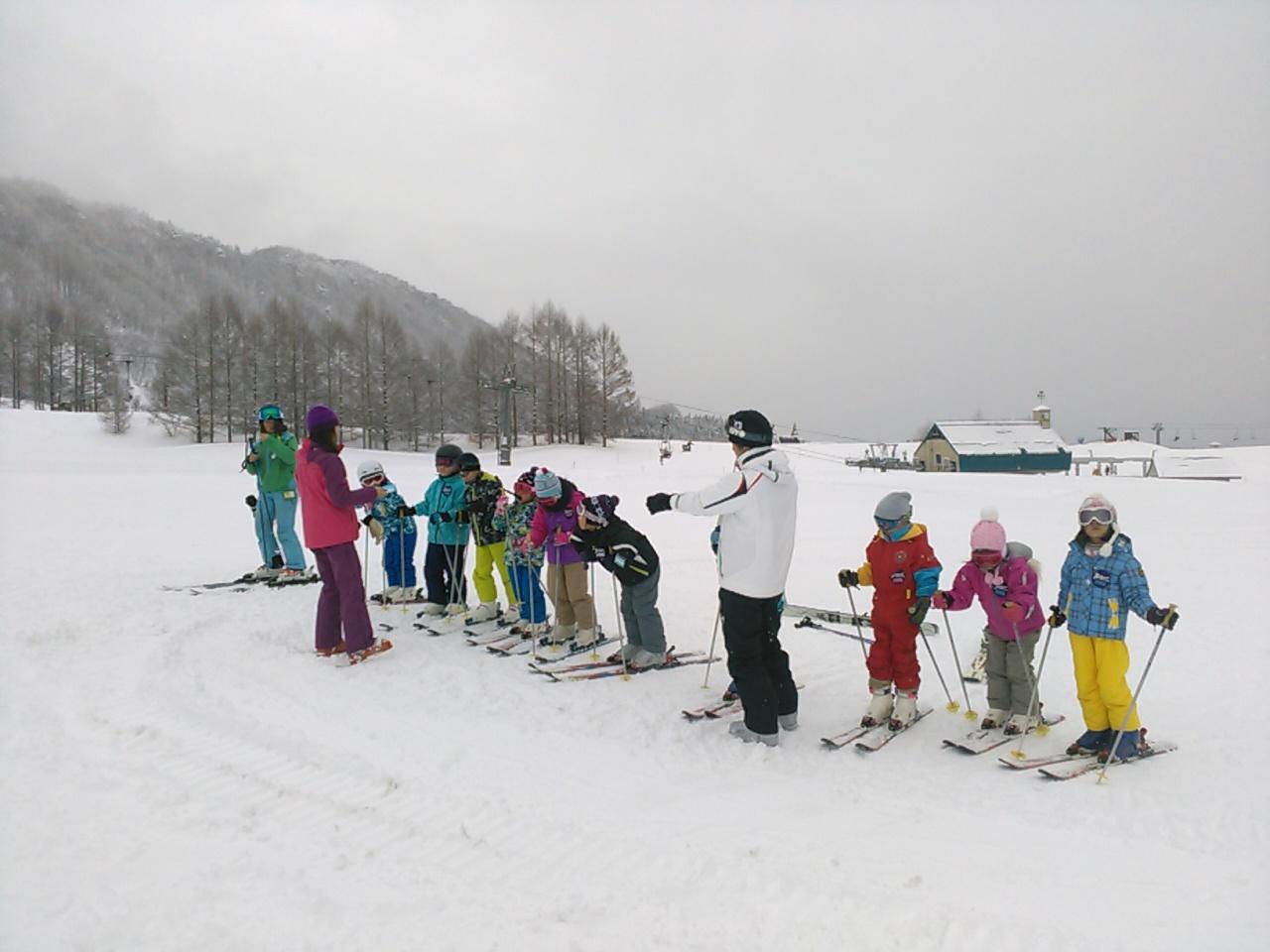 スキーキャンプ2日目・レッスン2