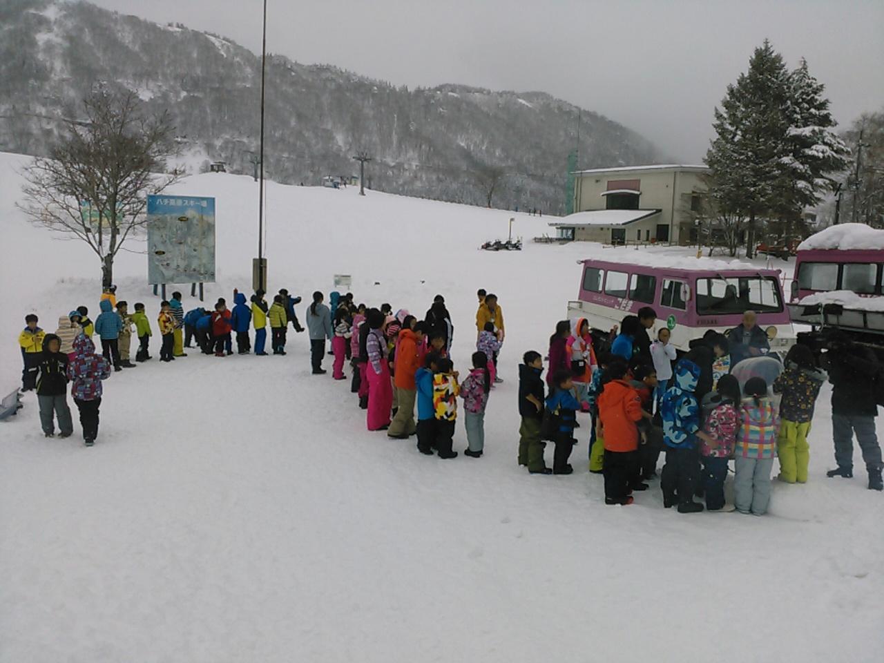スキーキャンプ2日目・わたがし作り