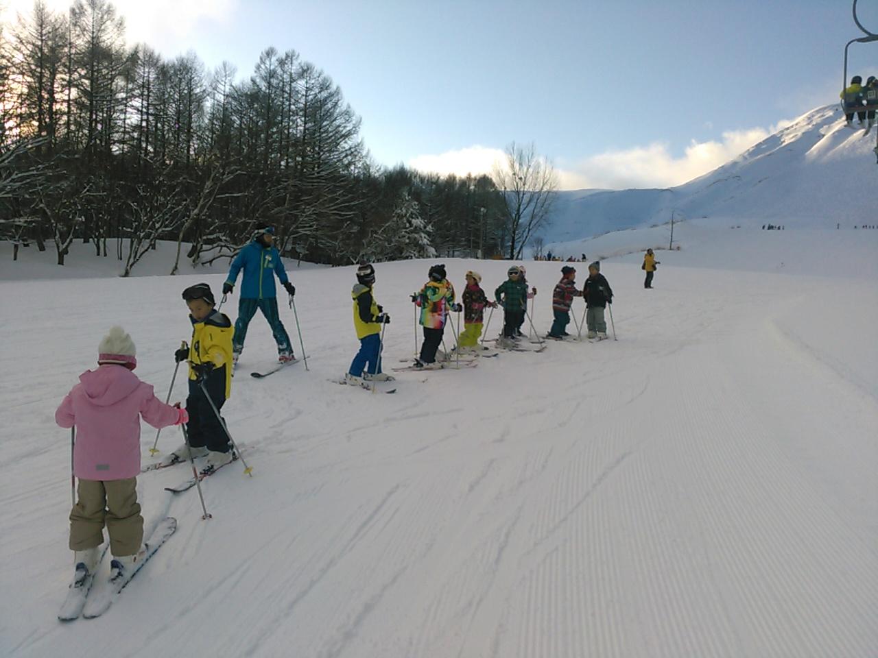スキーキャンプ2日目・午後レッスン4