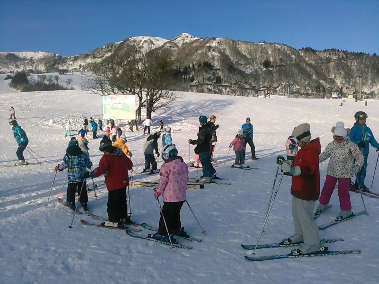 スキーキャンプ1日目・レッスン7